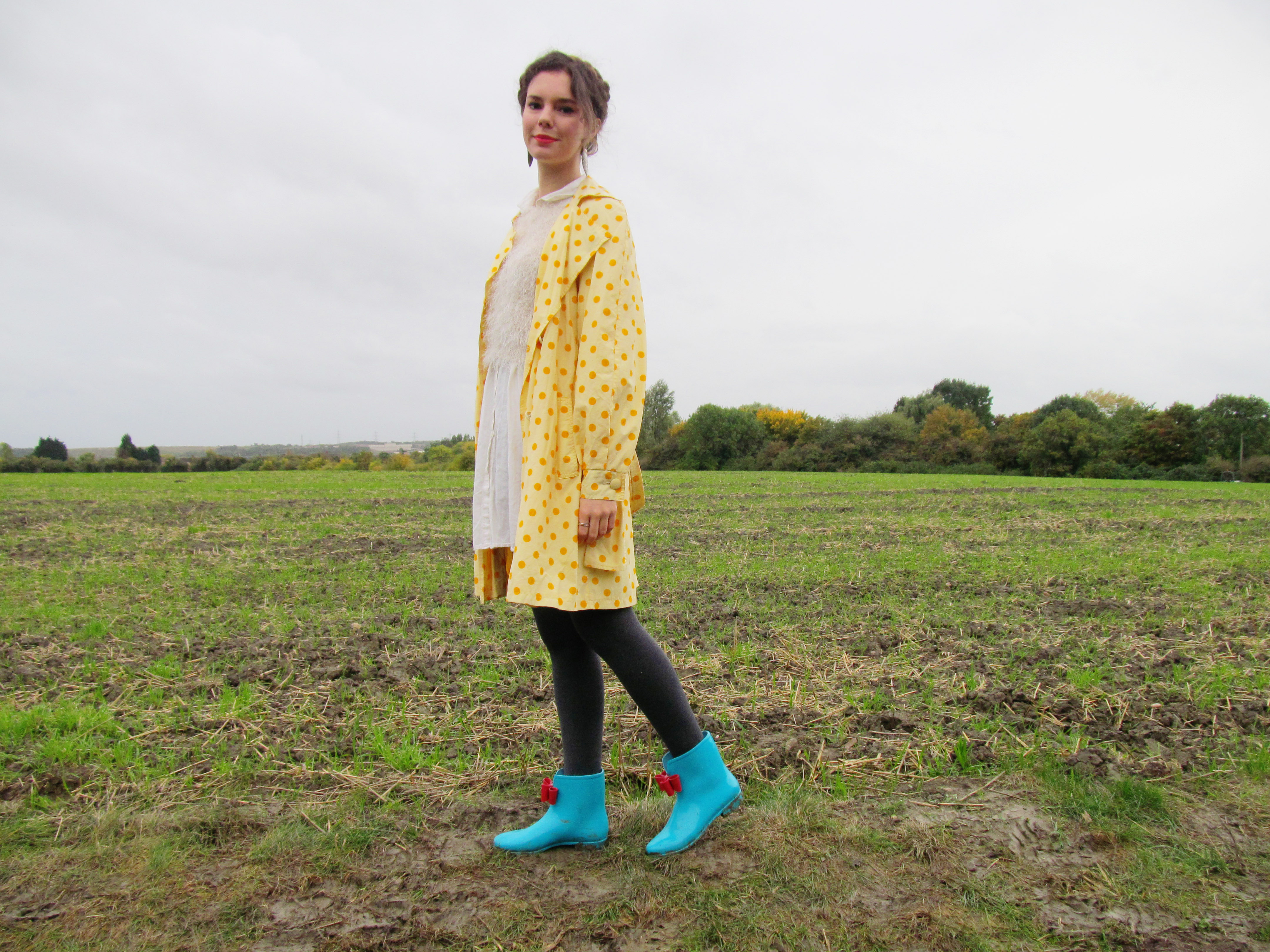 polka dots and wellie boots 5