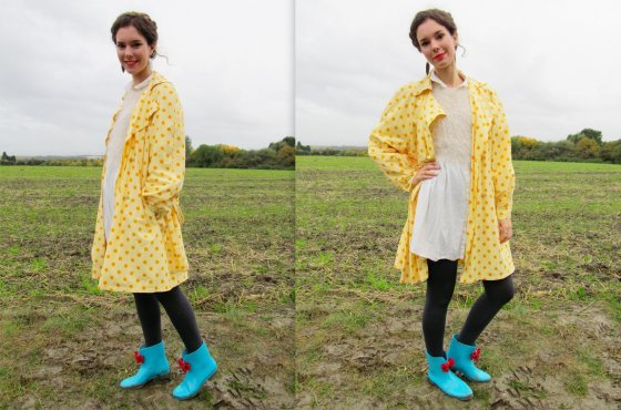 Polka dots and wellie boots1
