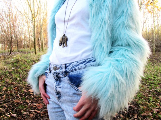 4blue fur coat 6