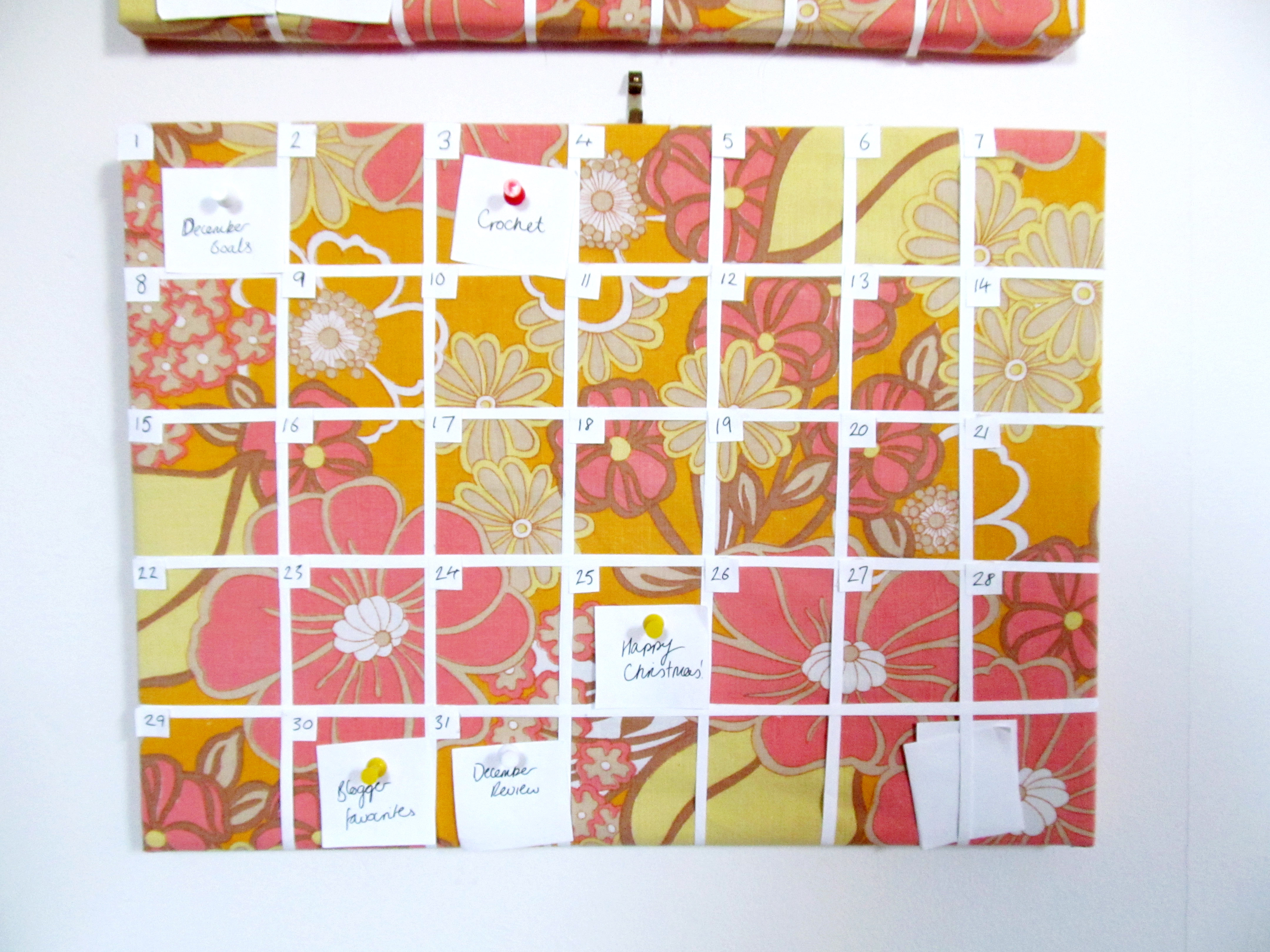 Diy Fabric Calendar Jessthetics